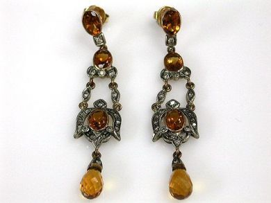 68397-July /Citrine Earrings Cynthia Findlay Antiques CFA120798C