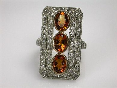 68397-July /Citrine Ring Cynthia Findlay Antiques CFA120752C