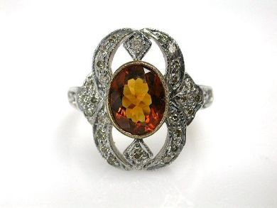 68397-July /Citrine Ring Cynthia Findlay Antiques CFA120756C