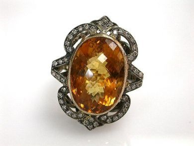 68397-July /Citrine Ring Cynthia Findlay Antiques CFA120765
