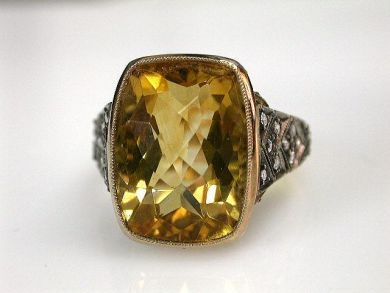 68397-July /Citrine Ring Cynthia Findlay Antiques CFA120776
