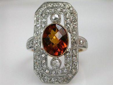 68397-July /Citrine Ring Cynthia Findlay Antiques CFA120779