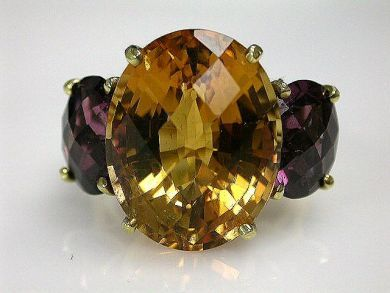 68397-July /Citrine Ring Cynthia Findlay Antiques  CFA1207107C