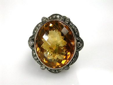 68397-July /Citrine Ring Cynthia Findlay Antiques  CFA120757C