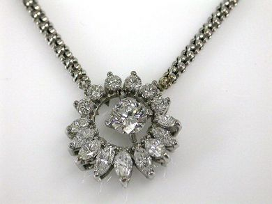 Modern Diamond Pendant Necklace