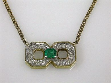 68397-July /Emerald Pendant Cynthia Findlay Antiques CFA120706