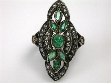 68397-July /Emerald Ring Cynthia Findlay Antiques CFA120753C