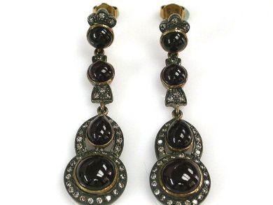 68397-July /Garnet Earrings Cynthia Findlay Antiques CFA120786C