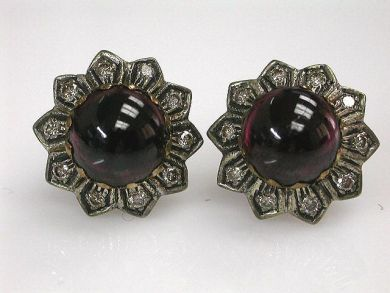68397-July /Garnet Stud Earrings Cynthia Findlay Antiques CFA120787C