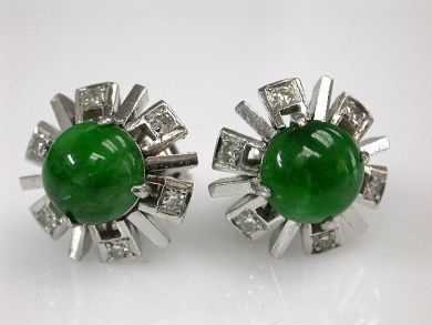 68397-July /Jade Earrings CYnthia Findlay Antiques CFA1206339