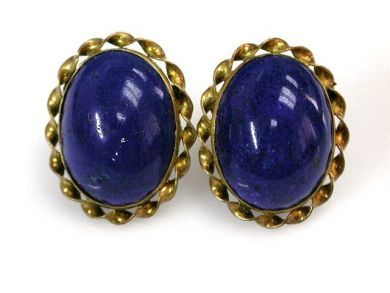68397-July /Lapis Earrings Cynthia Findlay Antiques CFA120713