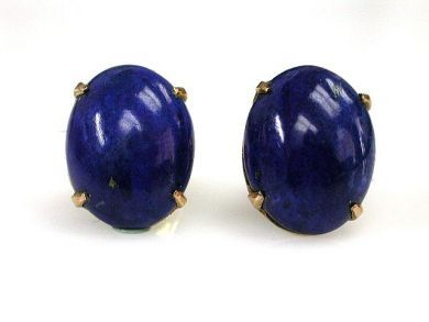 68397-July /Lapis Studs Cynthia Findlay Antiques CFA120707 1