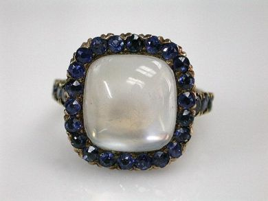68397-July /Moonstone Ring Cynthia Findlay Antiques CFA120794C
