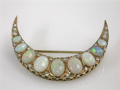 68397-July /Opal Brooch Cynthia Findlay Antiques CFA120708