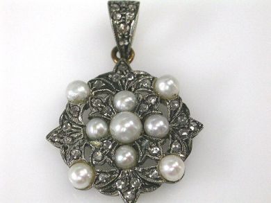68397-July /Pearl Pendant Cynthia Findlay Antiques CFA1207101C 1