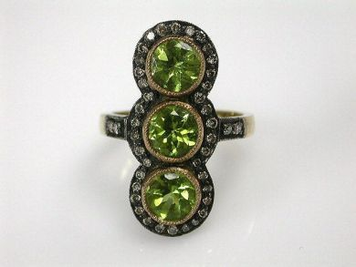68397-July /Peridot Ring Cynthia Findlay Antiques CFA1207112C