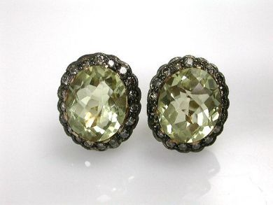 68397-July /Prasiolite Earrings Cynthia Findlay Antiques CFA120759C