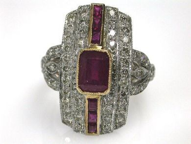 68397-July /Ruby Ring Cynthia Findlay Antiques CFA120755C