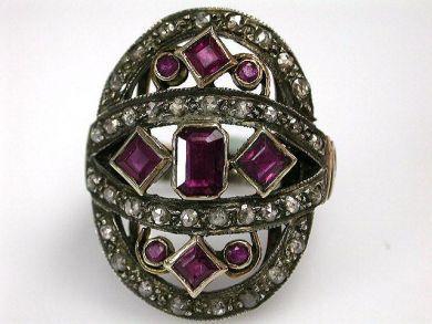 68397-July /Ruby Ring Cynthia Findlay Antiques CFA120788C