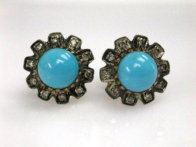 68397-July /Turquoise Studs Cynthia FIndlay Antiques CFA1207171C