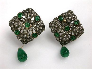 68450-August/Antique Emerald Earrings Cynthia Findlay Antiques CFA1207173