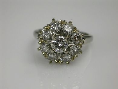 68450-August/Diamond Cluster Cynthia Findlay Antiques CFA1207242