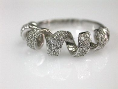 68450-August/Diamond Ribbon Ring Cynthia Findlay Antiques CFA1207296