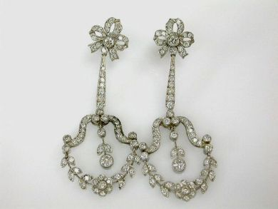 68450-August/Edwardian Diamond Earrings Cynthia Findlay Antiques CFA1207341