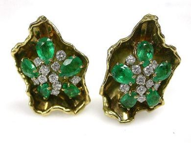 68450-August/Emerald Earrings Cynthia Findlay Antiques CFA1207322