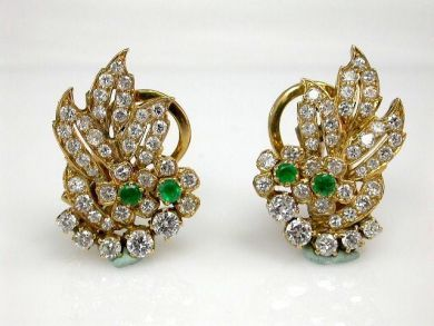 68450-August/Floral Earrings Cynthia Findlay Antiques CFA1207339