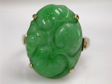 68450-August/Jade Solitaire Cynthia Findlay Antiques CFA1207238