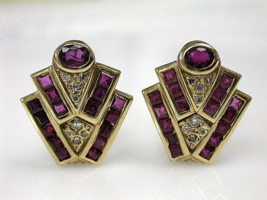 68450-August/Retro Earrings Cynthia Findlay Antiques CFA1207176