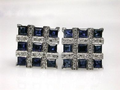 68450-August/Sapphire Earrings Cynthia Findlay Antiques CFA1207174
