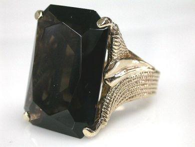 68450-August/Smoky Quartz Ring Cynthia Findlay Antiques CFA1207274
