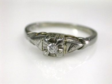 68450-August/Vintage Diamond Ring Cynthia Findlay Antiques CFA1207232
