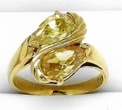 Vintage Yellow  Diamond Ring