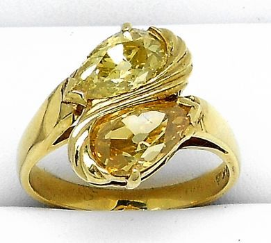 68450-August/Vintage Yellow Diamond Ring GL00012196006 68459