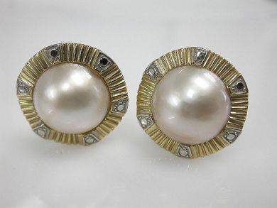 68518-September/Mabe pearl Earrings Cynthia Findlay Antiques CFA120853