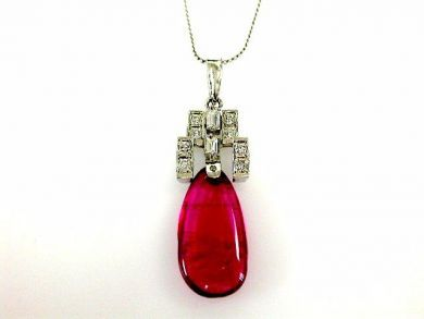 68518-September/Pink Tourmaline Pendant Cynthia Findlay Antiques CFA1207347