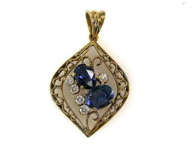 68518-September/Sapphire Pendant Cynthia Findlay Antiques CFA1207358