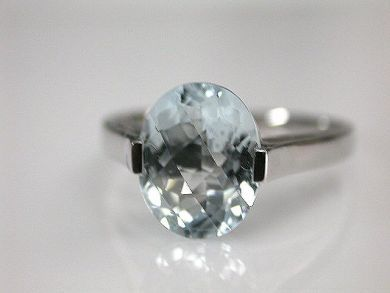 68668-March/Aquamarine Solitaire Cynthia Findlay Antiques CFA120878