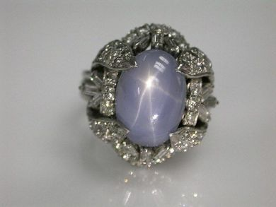 68668-March/Star Sapphire Ring Cynthia Findlay Antiques CFA1207203