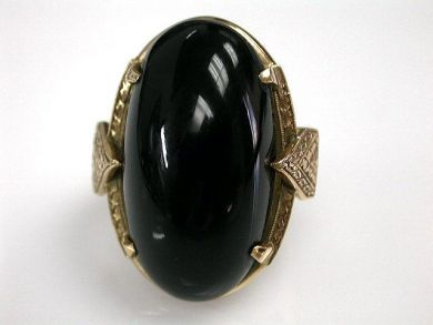 68700-September/Antique Onyx Ring Cynthia Findlay Antiques CFA1208205