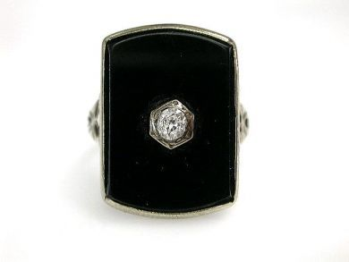 68700-September/Art Deco Onyx Ring Cynthia Findlay Antiques CFA1208201