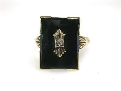 68700-September/Black Onyx Ring Cynthia Findlay Antiques CFA1208210