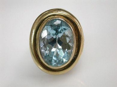 68700-September/Blue Topaz Solitaire Cynthia Findlay Antiques CFA1208157