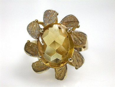 68700-September/Citrine Ring Cynthia Findlay Antiques CFA1208182