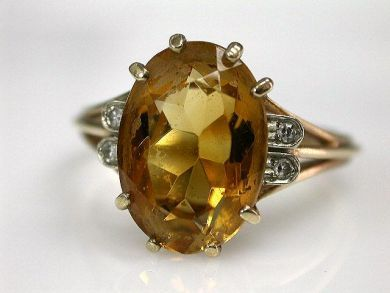 68700-September/Citrine Ring Cynthia Findlay Antiques CFA1208187