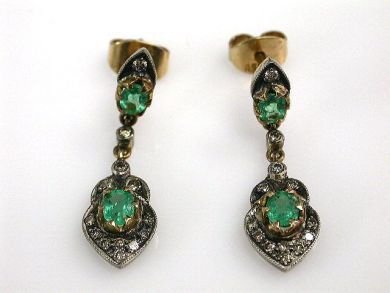 68700-September/Emerald Earrings Cynthia Findlay Antiques CFA1208161