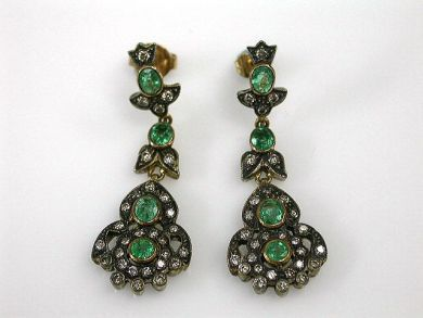 68700-September/Emerald Earrings Cynthia Findlay Antiques CFA1208170C